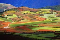 färgrikt land Arkivfoton