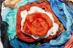 Färgrikt landskap som göras av handen Royaltyfria Bilder