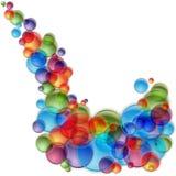 Färgrikt ljust bubblar sprej royaltyfri illustrationer