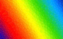 Färgrikt ljust spektrum för polygonlutningvektor Arkivfoto