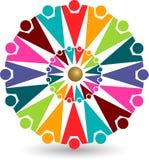 färgrikt logofolk Arkivfoton