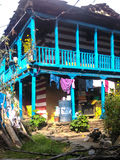 Färgrikt lokalt hus Fotografering för Bildbyråer