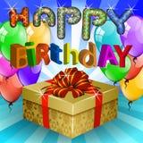 färgrikt lyckligt för födelsedag Arkivbild