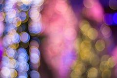 Färgrikt lyckligt nytt år christ för Defocused suddig abstrakt cirkel royaltyfri illustrationer