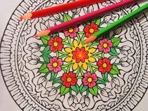 Färgrikt målat abstrakt begrepp kan använda som bakgrund Royaltyfri Foto