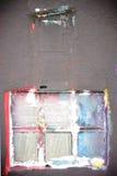 Färgrikt målat fönster arkivfoto
