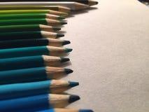 färgrikt många blyertspennor Royaltyfri Fotografi