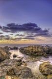 Färgrikt marin- landskap. arkivbilder