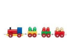 färgrikt model järnväg trä Arkivbilder