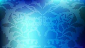 Färgrikt modernt suddigt lutningkort med blommor, damast vektor illustrationer