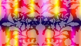 Färgrikt modernt suddigt lutningkort med blommor, damast royaltyfri illustrationer