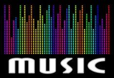 Färgrikt musikspektrum Vektorillustration för EPS 10 Royaltyfria Bilder
