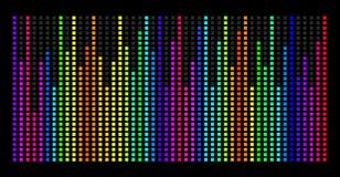Färgrikt musikspektrum Vektorillustration för EPS 10 Royaltyfria Foton
