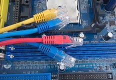 färgrikt nätverk för kabel Royaltyfria Bilder