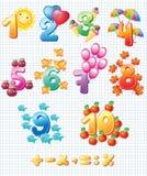 Färgrikt numrerar för barn Arkivfoton