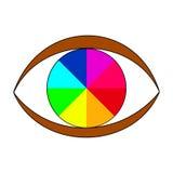 Färgrikt nyanserat öga Arkivbilder