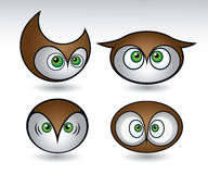 Färgrikt owlshuvud Royaltyfri Bild