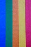 färgrikt paper silkespapper Arkivbilder