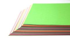 färgrikt papper Fotografering för Bildbyråer