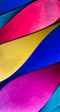 Färgrikt pappers- mönstrar i unikt ellipsformigt formar Arkivfoto