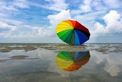 färgrikt paraply Royaltyfri Bild