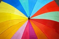 färgrikt paraply Arkivbild