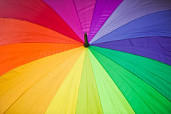 färgrikt paraply Arkivfoto