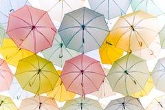 färgrikt paraply Royaltyfria Foton
