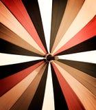 Färgrikt paraply för abstrakt tappning Arkivbilder