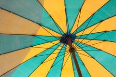 färgrikt paraply för bakgrund Royaltyfria Bilder