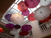 färgrikt paraply royaltyfri fotografi