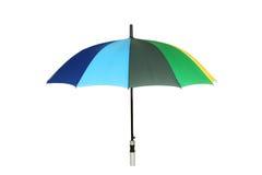 Färgrikt paraply som isoleras på vit bakgrund Fotografering för Bildbyråer