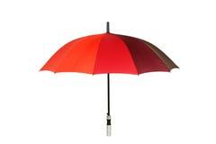 Färgrikt paraply som isoleras på vit bakgrund Arkivfoton