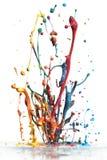 färgrikt plaska för målarfärg Fotografering för Bildbyråer