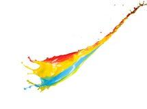 färgrikt plaska för målarfärg Arkivfoto