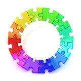 färgrikt pusselhjul för diagram 3d Royaltyfria Bilder
