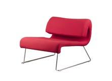 färgrikt rött trä för stol Royaltyfri Foto