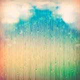 Färgrikt regn royaltyfri illustrationer