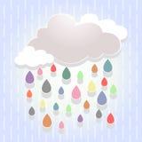 färgrikt regn Arkivfoton