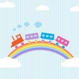 färgrikt regnbågedrev Royaltyfria Foton