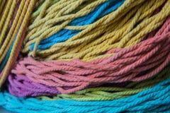 färgrikt rep Fotografering för Bildbyråer