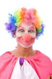 färgrikt roligt för clown Arkivfoto