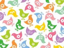 färgrikt roligt retro för fågelungar vektor illustrationer
