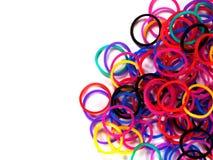 Färgrikt rubber musikband Arkivbild