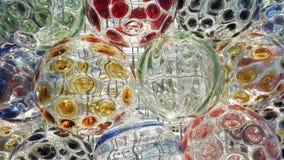 Färgrikt runt exponeringsglas royaltyfri fotografi