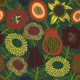 Färgrikt seamless blom- mönstrar Arkivfoton