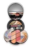 färgrikt skönhetsmedelsatssmink Royaltyfria Bilder