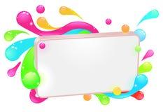 färgrikt skraj modernt tecken Arkivbild