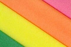 Färgrikt skumgummi Royaltyfria Bilder