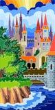 färgrikt slott Royaltyfria Bilder